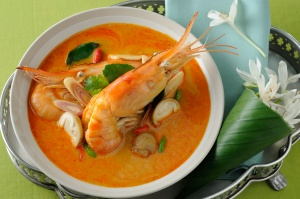 Tom Yam Kung (Shrimp's Spicy Soup) *** Local Caption *** ต้มยำกุ้ง
